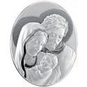 Quadro Ovale Sacra Famiglia in argento