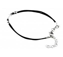 Braccialetto religioso in corda e argento