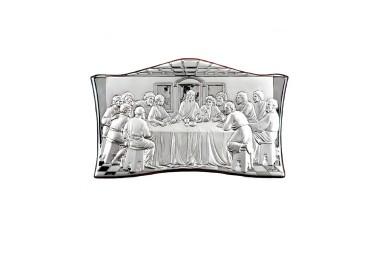 Quadro in legno e argento Ultima Cena