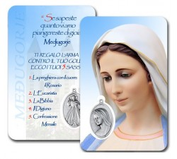 CARD PLASTIFICATA MADONNA MEDJUGORJE (CONF. 10 Pz)
