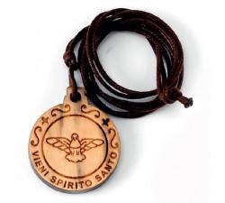 CIONDOLO LEGNO SPIRITO SANTO (CONF. 10 PZ.)