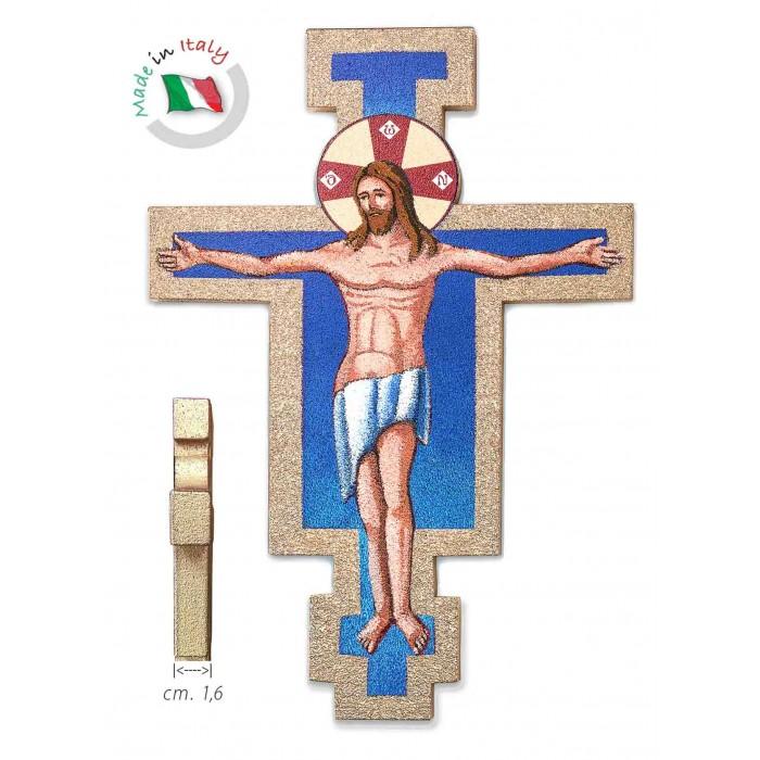 Crocifisso in Legno Croce di San Damiano 15,00 x 11 cm