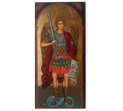 san michele arcangelo icona in legno
