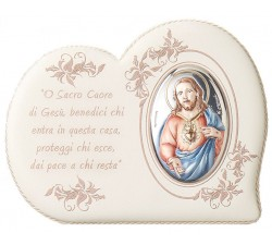 Quadro con immagine Sacro Cuore di Gesù e preghiera