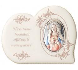 Quadro con immagine Sacro Cuore di Maria e preghiera