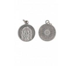 Medaglia del Volto Santo in ottone color argento