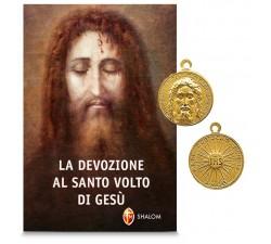 Libro La Devozione al Volto Santo di Gesù con medaglia devozionale del Volto Santo