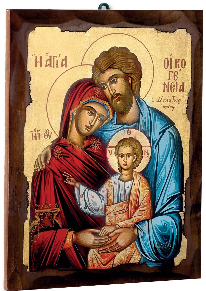 Icone Greche In Legno Con Immagini Sacre Su Tela Serigrafata