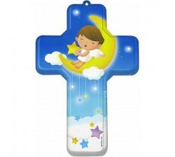 Crocifisso per bambini con angelo custode