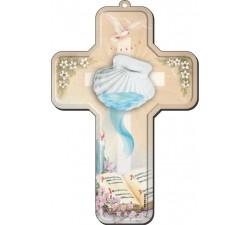 croce in legno regalo battesimo