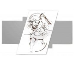Grande Pannello Capoletto Sacra Famiglia in Legno Laccato