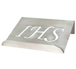 Leggio in Ottone Argentato con Simbolo JHS per Altare