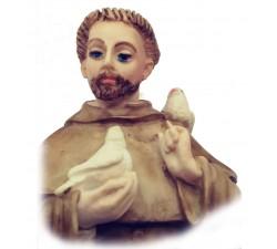 Statua San Francesco e animali in polvere marmo