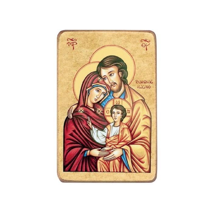 Icone In Legno Sacra Famiglia Ed Altri Soggetti Sacri
