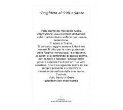SANTINO VOLTO SANTO GESÙ CON PREGHIERA