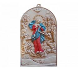quadro madonna che scioglie i nodi icona in ceramica