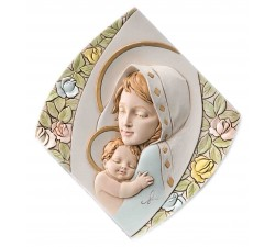 Madonna con bambino quadro capezzale moderno