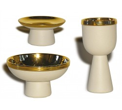 SET ACCESSORI ALTARE IN GRES PORCELLANATO ED ORO