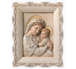 Quadro capoletto Madonna della Seggiola in pietra ricostruita dipinta a mano