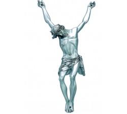 Scultura corpo Cristo in Resina Argentata