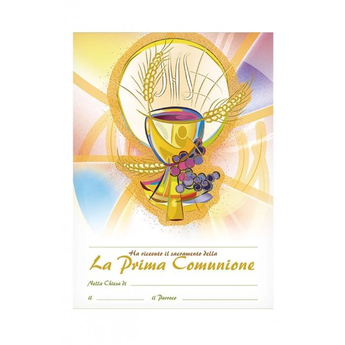 DIPLOMA PERGAMENA RICORDO PRIMA COMUNIONE