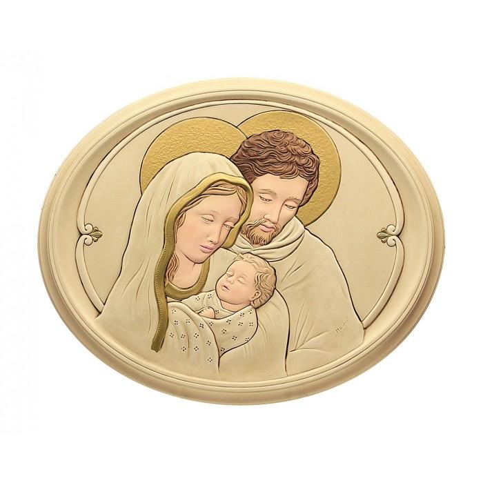 Quadro Capoletto Sacra Famiglia in Polvere Alabastro