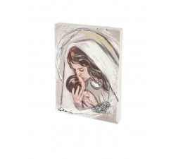 Quadretto materico Madonna con Bimbo idea regalo nascita