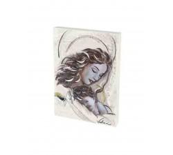 quadro materico madonna con bimbo