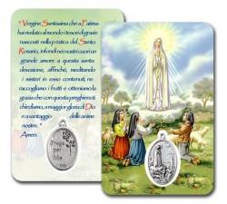 CARD PLASTIFICATA MADONNA DI FATIMA (CONF. 10 Pz)