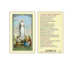 SANTINO PLASTIFICATO MADONNA LOURDES (CONF. 25 Pz)