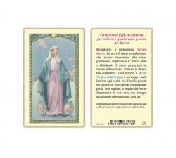 SANTINO PLASTIFICATO MADONNA MIRACOLOSA (CONF. 25 Pz)