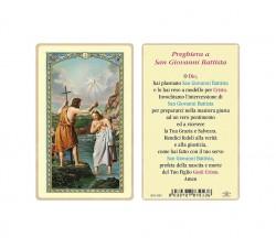 SANTINO PLASTIFICATO SAN GIOVANNI BATTISTA (CONF. 25 Pz)