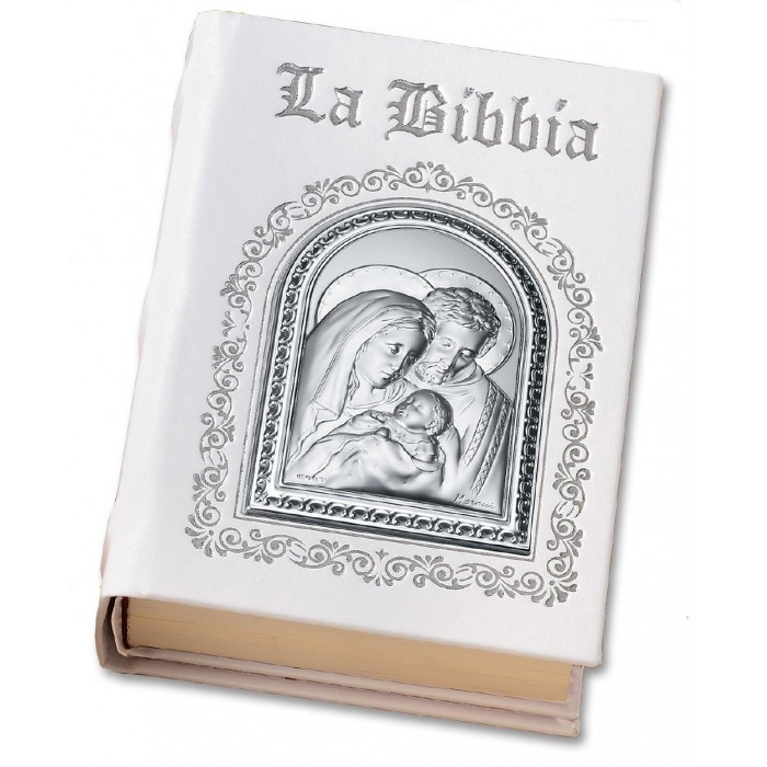 SACRA BIBBIA IN PELLE E ARGENTO