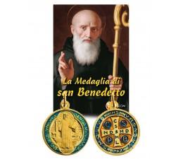 MEDAGLIA SAN BENEDETTO + LIBRO