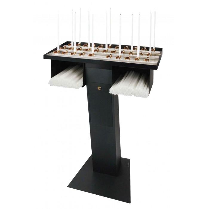 Candelabro Portalumini Albero Silverplate Candlesticks & Candelabra