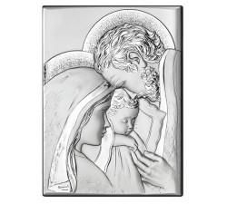 Sacra Famiglia QUADRO SACRA FAMIGLIA IN ARGENTO BILAMINATO