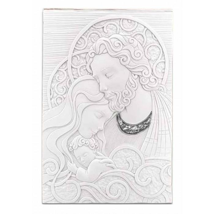 Quadro Sacra Famiglia Moderno.Quadro Capoletto Moderno Sacra Famiglia Serie Memory Artesacrashop Variante Colore Bianco