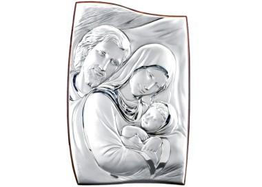 Quadro sagomato Sacra Famiglia in Argento