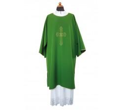 veste dalmatica diaconale con croce ricamata