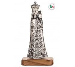 statua madonna loreto in metallo ossidato