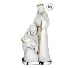 Presepe Natività moderna Sacra Famiglia decorata