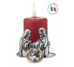 portacandele natale decorazione natalizia natività