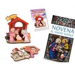 PRESEPE PER BAMBINI COMPONIBILE + LIBRO NOVENA DI NATALE