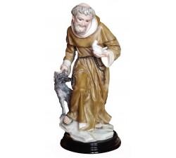 statua san francesco d'Assisi con lupo