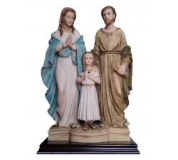 sacra famiglia statua in polvere di marmo
