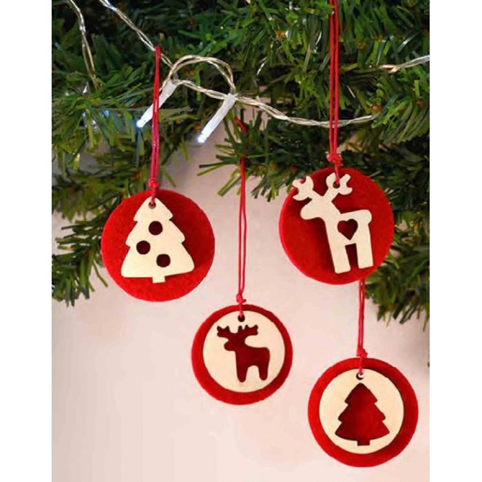 Natale Addobbi.Addobbi Made In Italy Per Albero Natale Di Natale Artesacrashop Com