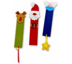 decori natalizi segnalibro realizzati a mano