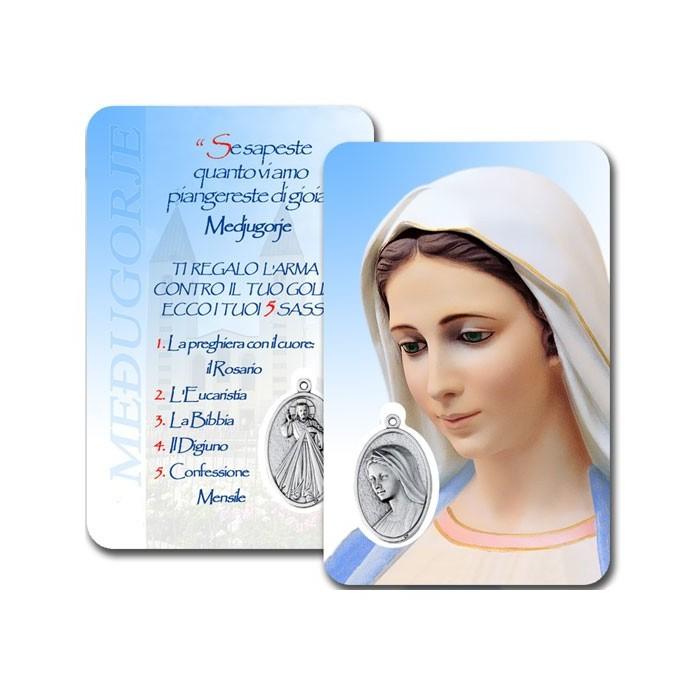 CONF. 50-100 PZ. CARD PLASTIFICATA MADONNA MEDJUGORJE