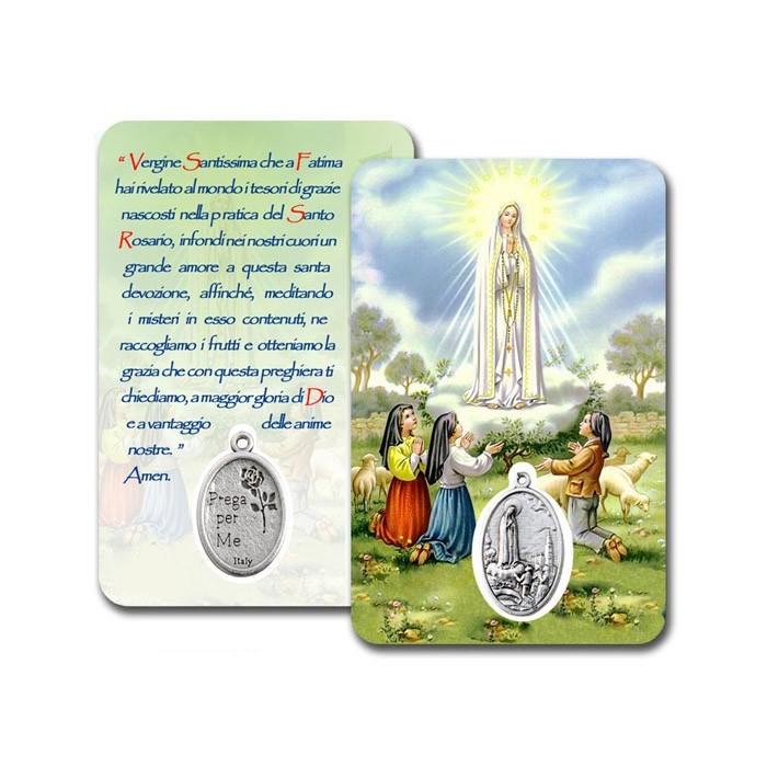CONF. 50-100 PZ. CARD PLASTIFICATA MADONNA DI FATIMA
