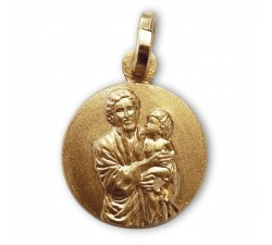 medaglia di san giuseppe con bambino gesù